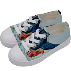 Blue Bird Kids  Low Top Canvas Sneakers by vintage2030