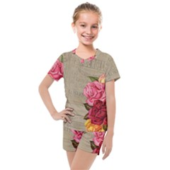 Flower 1646069 960 720 Kids  Mesh Tee And Shorts Set