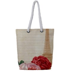 Vintage 1254711 960 720 Full Print Rope Handle Tote (small) by vintage2030