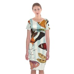 Butterfly 1064147 960 720 Classic Short Sleeve Midi Dress