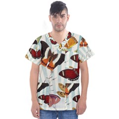 Butterfly 1064147 960 720 Men s V Neck Scrub Top