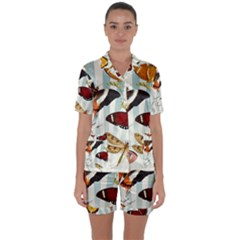 Butterfly 1064147 960 720 Satin Short Sleeve Pyjamas Set
