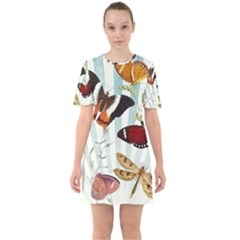 Butterfly 1064147 960 720 Sixties Short Sleeve Mini Dress