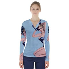 Retro 1107640 960 720 V Neck Long Sleeve Top
