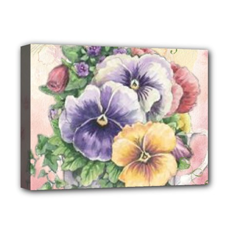 Lowers Pansy Deluxe Canvas 16  X 12  (stretched)