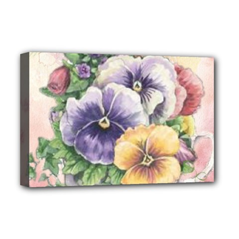 Lowers Pansy Deluxe Canvas 18  X 12  (stretched)