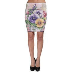 Lowers Pansy Bodycon Skirt