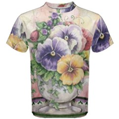 Lowers Pansy Men s Cotton Tee