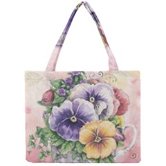 Lowers Pansy Mini Tote Bag
