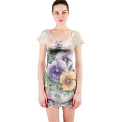 Lowers Pansy Short Sleeve Bodycon Dress