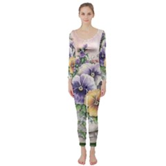 Lowers Pansy Long Sleeve Catsuit