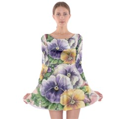 Lowers Pansy Long Sleeve Skater Dress
