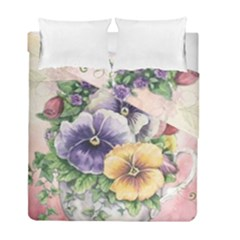 Lowers Pansy Duvet Cover Double Side (full/ Double Size)