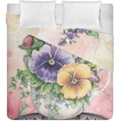Lowers Pansy Duvet Cover Double Side (king Size)