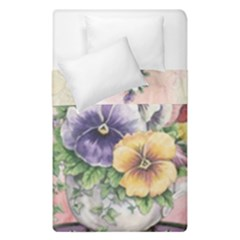 Lowers Pansy Duvet Cover Double Side (single Size)