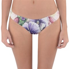 Lowers Pansy Reversible Hipster Bikini Bottoms