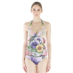 Lowers Pansy Halter Swimsuit