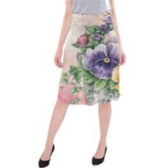 Lowers Pansy Midi Beach Skirt