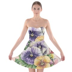 Lowers Pansy Strapless Bra Top Dress