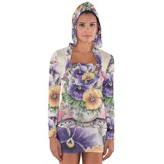 Lowers Pansy Long Sleeve Hooded T Shirt