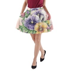 Lowers Pansy A-line Pocket Skirt by vintage2030