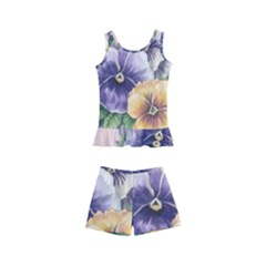 Lowers Pansy Kid s Boyleg Swimsuit