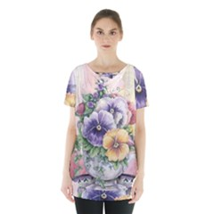 Lowers Pansy Skirt Hem Sports Top