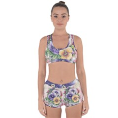 Lowers Pansy Racerback Boyleg Bikini Set