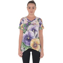 Lowers Pansy Cut Out Side Drop Tee