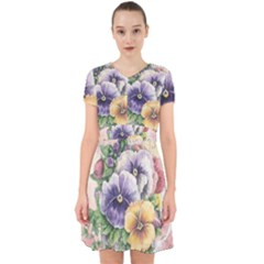 Lowers Pansy Adorable In Chiffon Dress