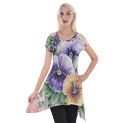 Lowers Pansy Short Sleeve Side Drop Tunic