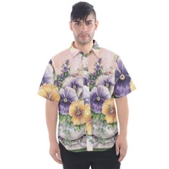 Lowers Pansy Men s Short Sleeve Shirt
