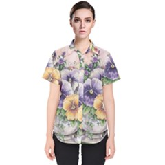 Lowers Pansy Women s Short Sleeve Shirt