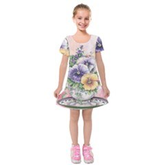 Lowers Pansy Kids  Short Sleeve Velvet Dress