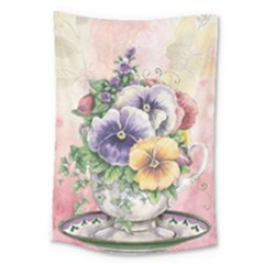 Lowers Pansy Large Tapestry