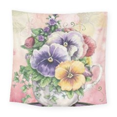 Lowers Pansy Square Tapestry (large)