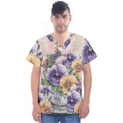 Lowers Pansy Men s V Neck Scrub Top