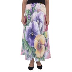 Lowers Pansy Flared Maxi Skirt
