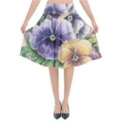 Lowers Pansy Flared Midi Skirt