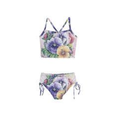 Lowers Pansy Girls  Tankini Swimsuit