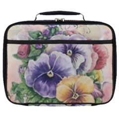 Lowers Pansy Full Print Lunch Bag by vintage2030
