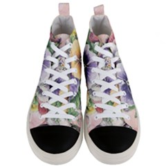 Lowers Pansy Men s Mid Top Canvas Sneakers