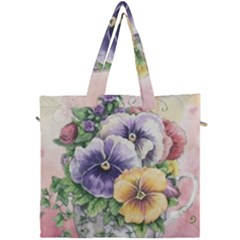 Lowers Pansy Canvas Travel Bag