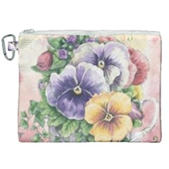 Lowers Pansy Canvas Cosmetic Bag (xxl)