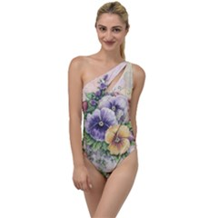 Lowers Pansy To One Side Swimsuit