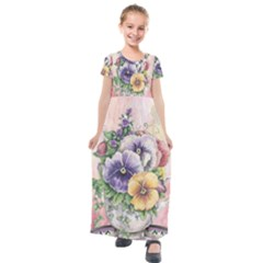 Lowers Pansy Kids  Short Sleeve Maxi Dress