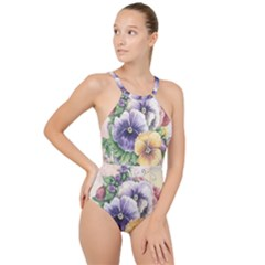 Lowers Pansy High Neck One Piece Swimsuit