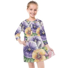 Lowers Pansy Kids  Quarter Sleeve Shirt Dress