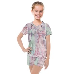Vintage 1331476 1920 Kids  Mesh Tee And Shorts Set by vintage2030