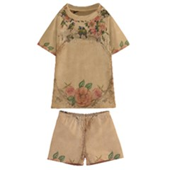 Background 1365750 1920 Kids  Swim Tee And Shorts Set by vintage2030